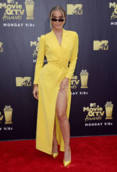 Jasmine Sanders at 2018 MTV Movie and TV Awards in Santa Monica