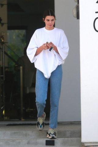 Kendall Jenner leaving Ben Simmon's house in Beverly Hills