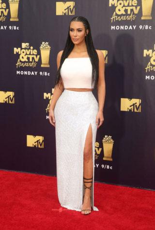 Kim Kardashian at 2018 MTV Movie and TV Awards in Santa Monica
