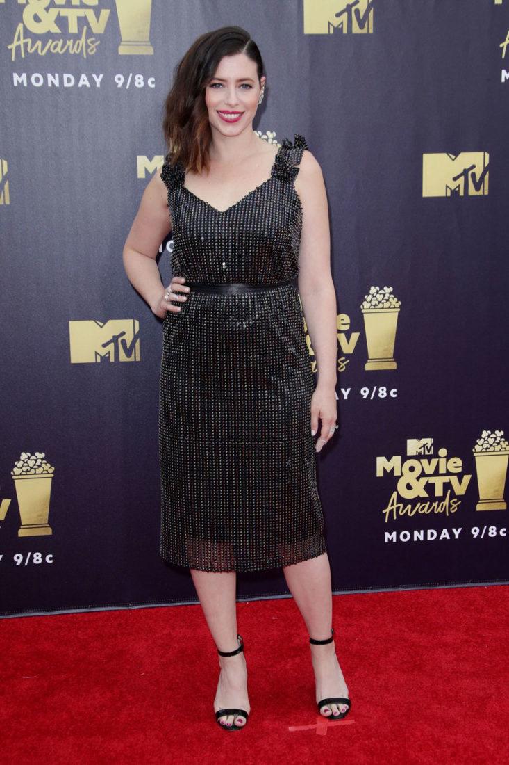 Lauren Miller at 2018 MTV Movie and TV Awards in Santa Monica