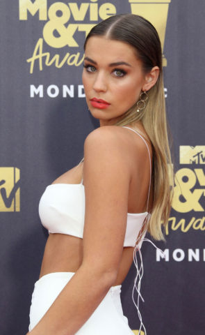 Liv Pollock at 2018 MTV Movie and TV Awards in Santa Monica
