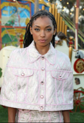 Logan Browning at Moschino Fashion Show in LA