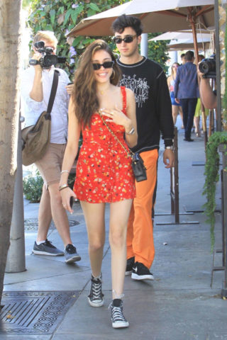Madison Beer and Boyfriend Zack Bia in Beverly Hills