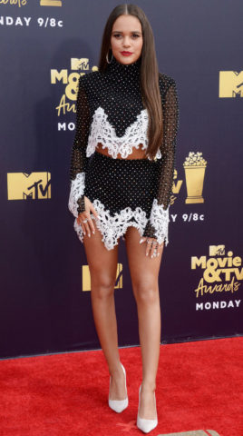 Madison Pettis at 2018 MTV Movie and TV Awards in Santa Monica
