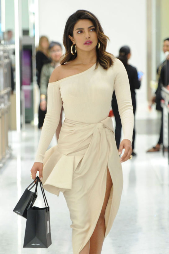 Priyanka Chopra Shopping at Saks Fifth Avenue in New York