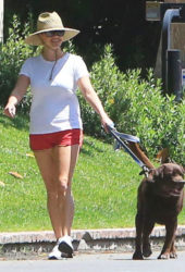 Reese Witherspoon Out with Her Dog in Beverly Hills