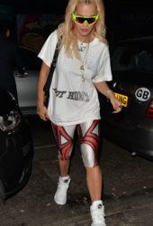 Rita Ora leaving Mr Chow's Restaurant in London