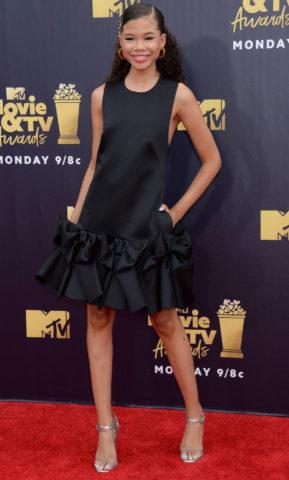 Storm Reid at 2018 MTV Movie and TV Awards in Santa Monica
