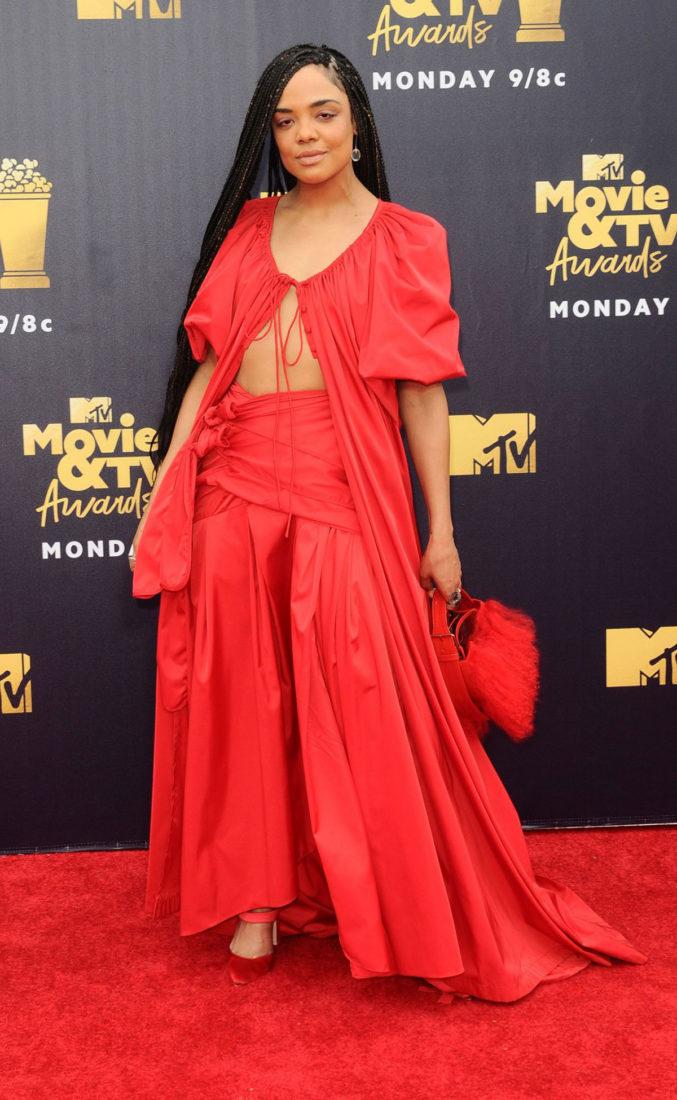 Tessa Thompson at 2018 MTV Movie and TV Awards in Santa Monica