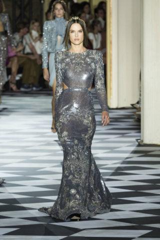 Alessandra Ambrosio at Zuhair Murad Runway Show at Paris Fashion