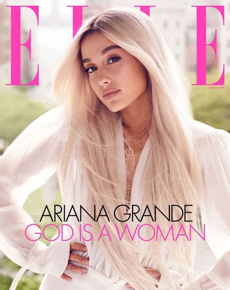 Ariana Grande for Elle US Magazine (August 2018)