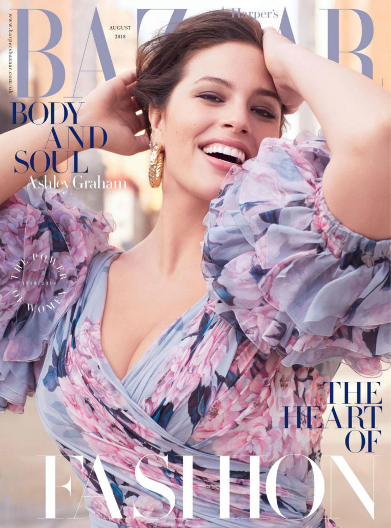 Ashley Graham in Harper's Bazaar Magazine (UK August 2018)