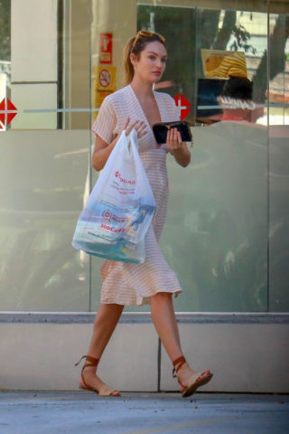 Candice Swanepoel Out Shopping in Victoria