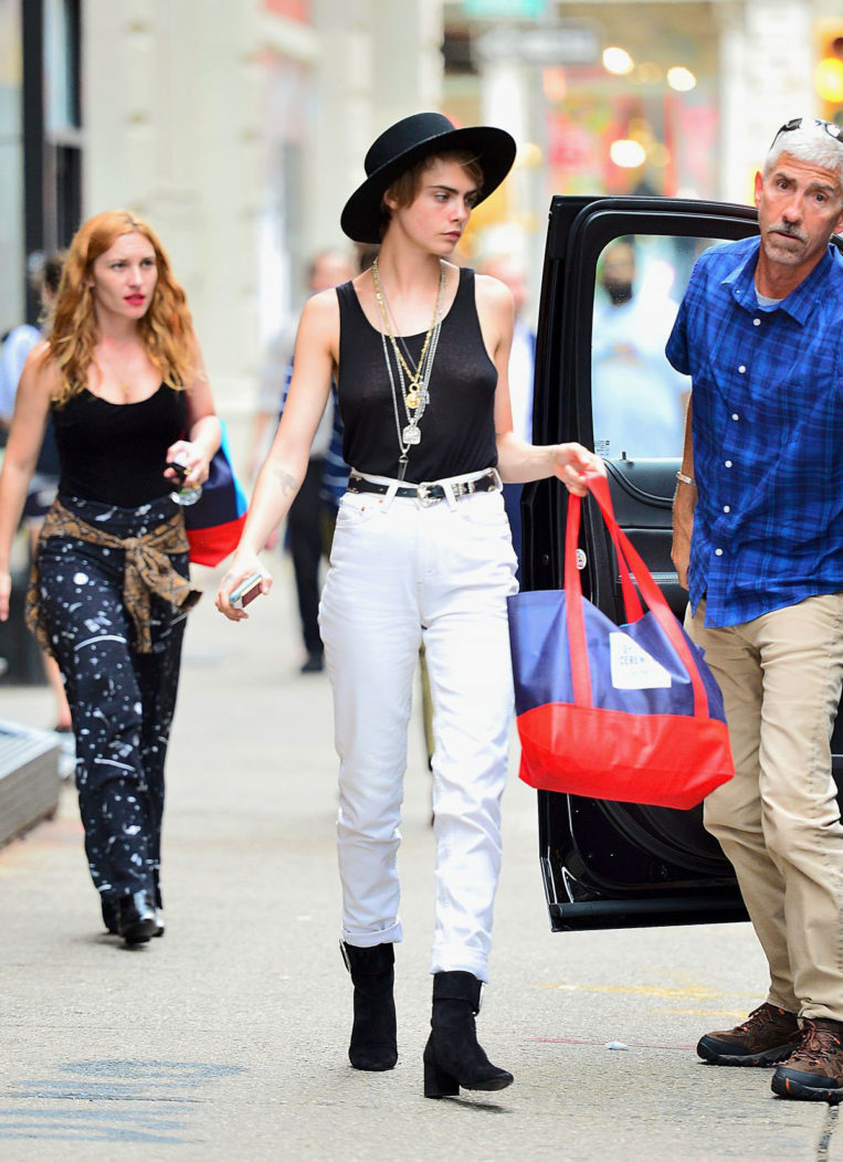 Cara Delevingne Out Shopping in New York