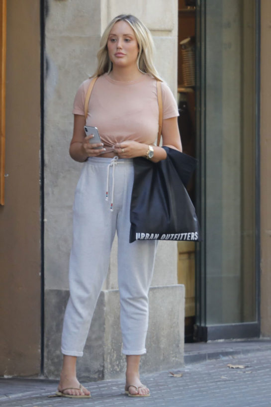 Charlotte Crosby Out and About in Barcelona