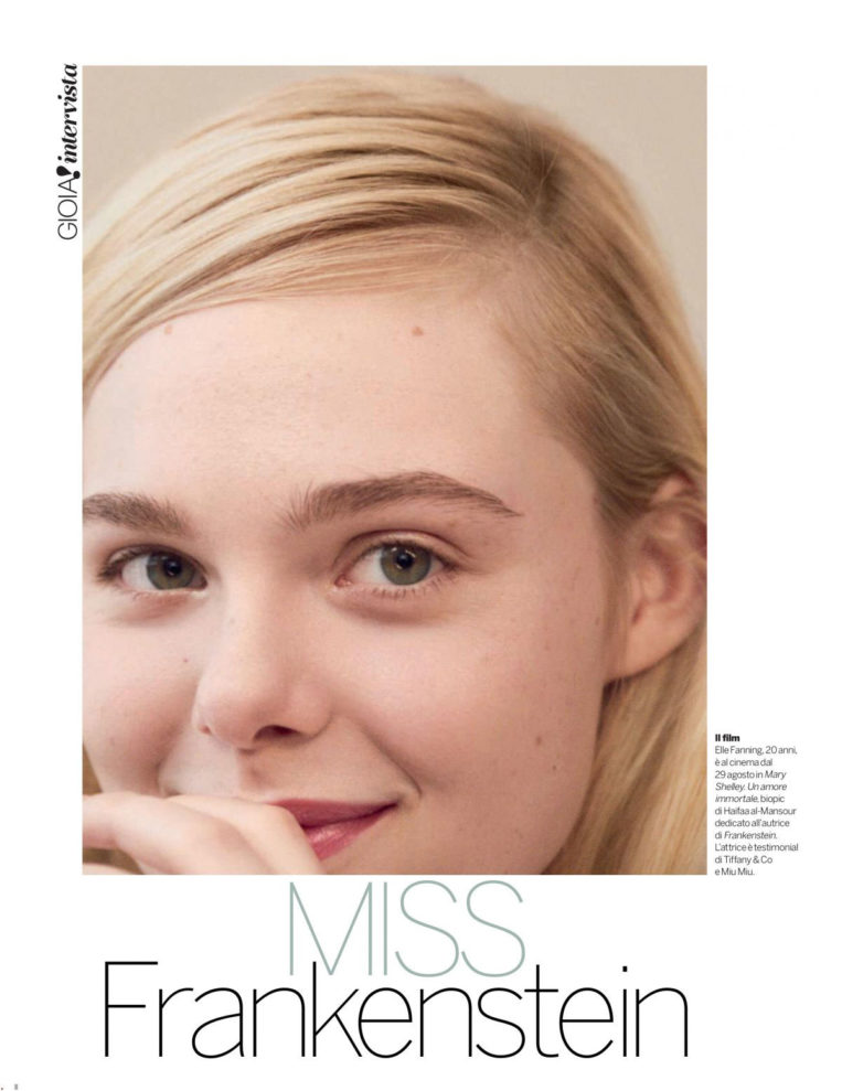 Elle Fanning in Gioia Magazine (August 2018)