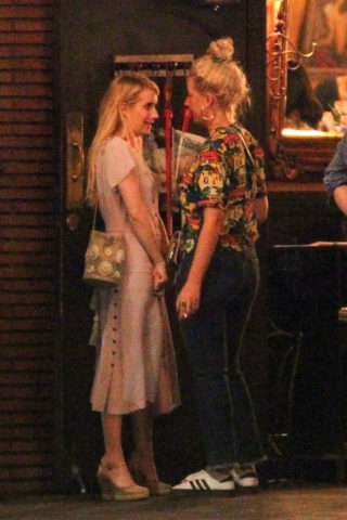 Emma Roberts Night Out in Los Feliz