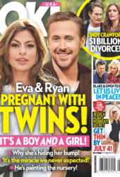 Eva Mendes and Ryan Gosling in Ok! Magazine (July 2018)
