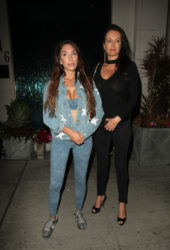 Farrah Abraham and Kate Neilson at Mastro's in Beverly Hills