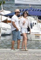 Gemma Arterton Out and About in Portofino