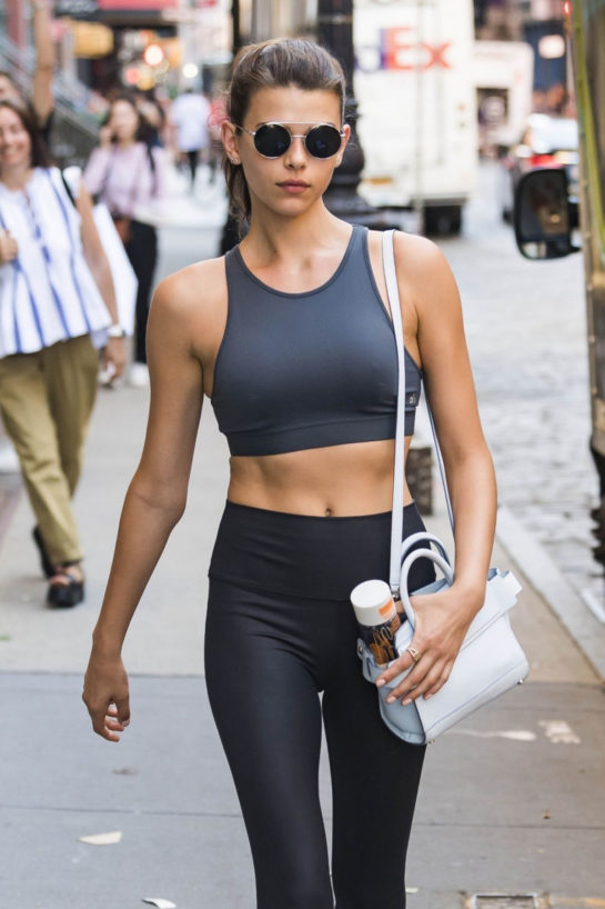 Georgia Fowler Leaves a Yoga Class in New York
