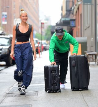 Hailey Baldwin and Justin Bieber out in NYC