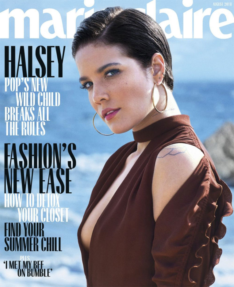Halsey in Marie Claire Magazine (August 2018)