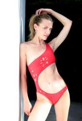 Jaime King in a Red Bikni – Photoshoot for GiGiC Bikinis in Hollywood