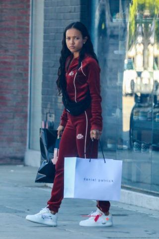 Karrueche Tran Out Shopping in Hollywood