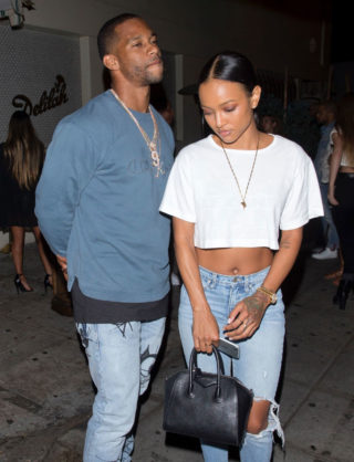 Karrueche Tran in Ripped Jeans Leaves Delilah in West Hollywood