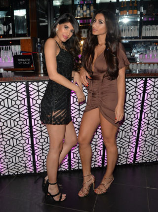Kayleigh Morris and Jasmin Walia at Shooshh Night Club in Brighton