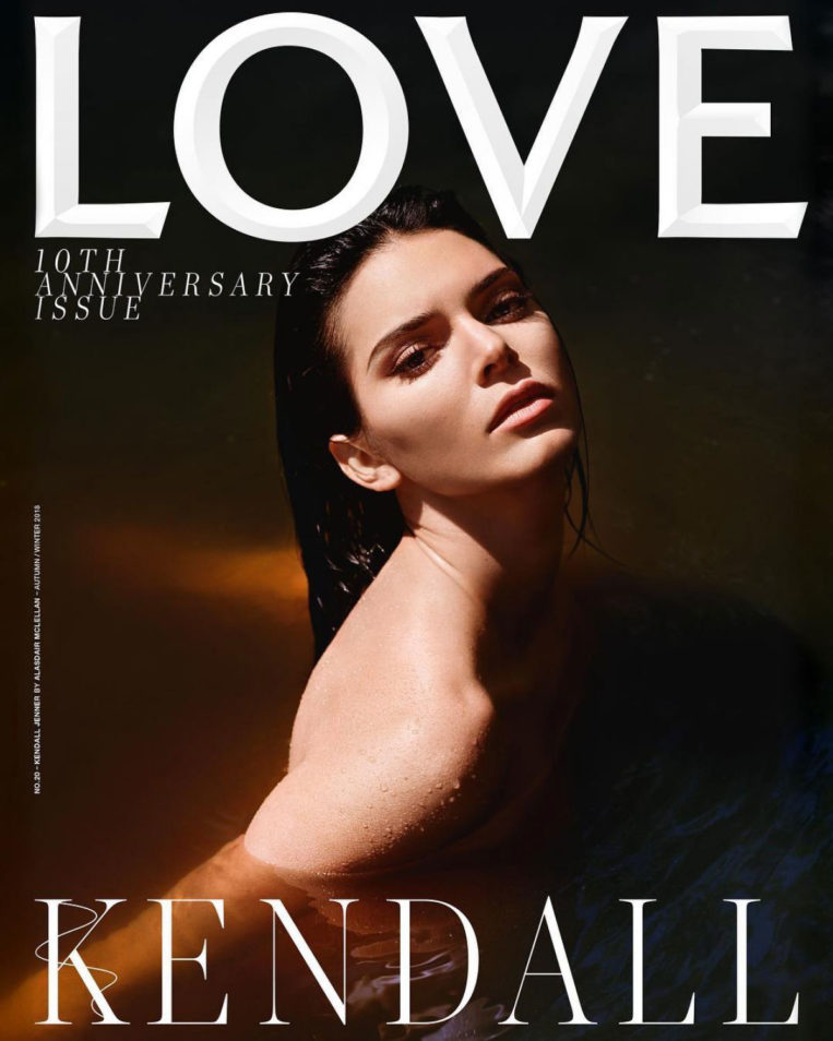 Kendall Jenner on the Cover of Love Magazine 10th Anniversary Issue 2018