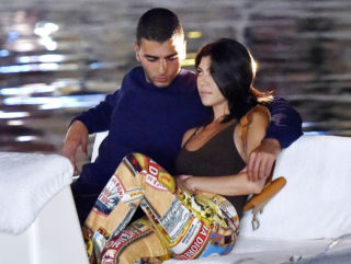 Kourtney Kardashian and Younes Bendjima Out in Portofino