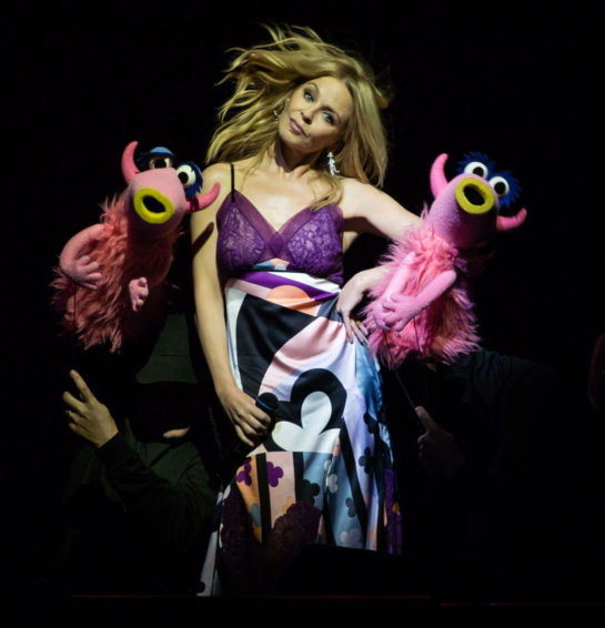 Kylie Minogue & The Muppets at The O2 Arena in LondonKylie Minogue & The Muppets at The O2 Arena in London