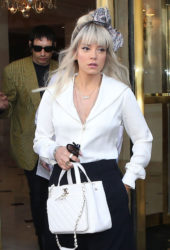 Lily Allen Leaves Her Hotel in Paris