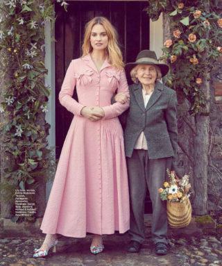 Lily James in Harper's Bazaar Magazine (Spain July 2018)