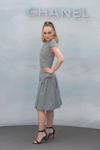 Lily-Rose Depp at Chanel Show at Haute Couture Fashion Week in Paris
