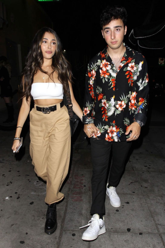 Madison Beer and Zack Bia Leaves Delilah in West Hollywood