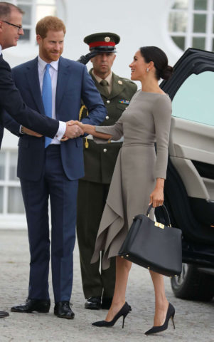 Meghan Markle - Meet the Irish President Michael Higgins in Dublin