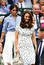 Meghan Markle and Kate Middleton at Wimbledon Tennis Championships