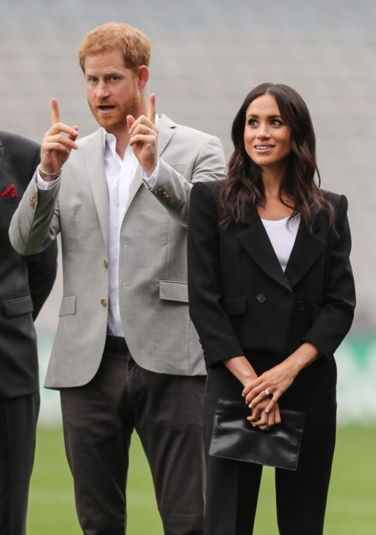 Meghan Markle and Prince Harry at Croke Park in Dublin