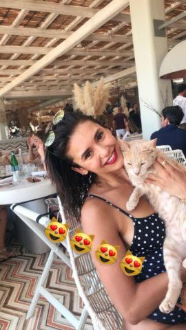 Nina Dobrev on Vacation in Mykonos (Instagram Pictures)