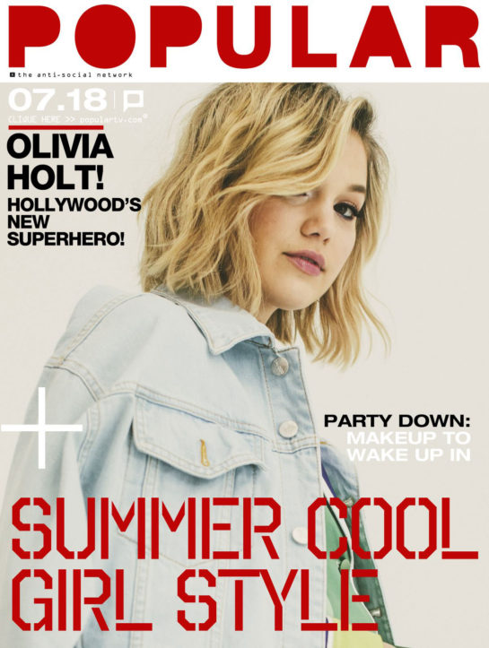 Olivia Holt for Popular TV Magazine (July 2018)