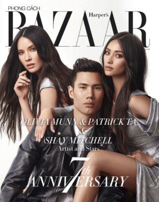 Olivia Munn and Shay Mitchell in Harper's Bazaar Magazine, Vietnam 7th Anniversary Issue 2018