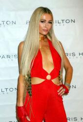 Paris Hilton Promotes Her Skincare Line at Cosmoprof Show in Las Vegas