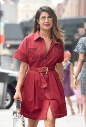 Priyanka Chopra Leaves Her Apartment in New York