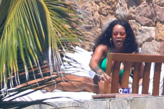 Rihanna in Bikini and Hassan Jameel on Vacation in Mexico
