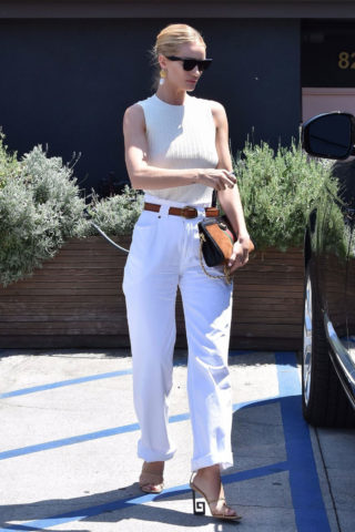 Rosie Huntington-Whiteley Leaves a Friend in Beverly Hills