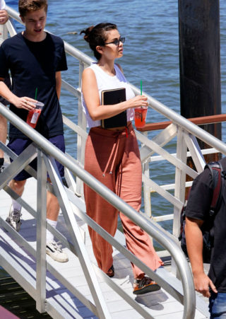 Selena Gomez Goes on a Yacht in New York