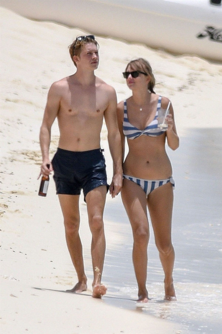 Taylor Swift in Bikini at the beach in Turks and Caicos